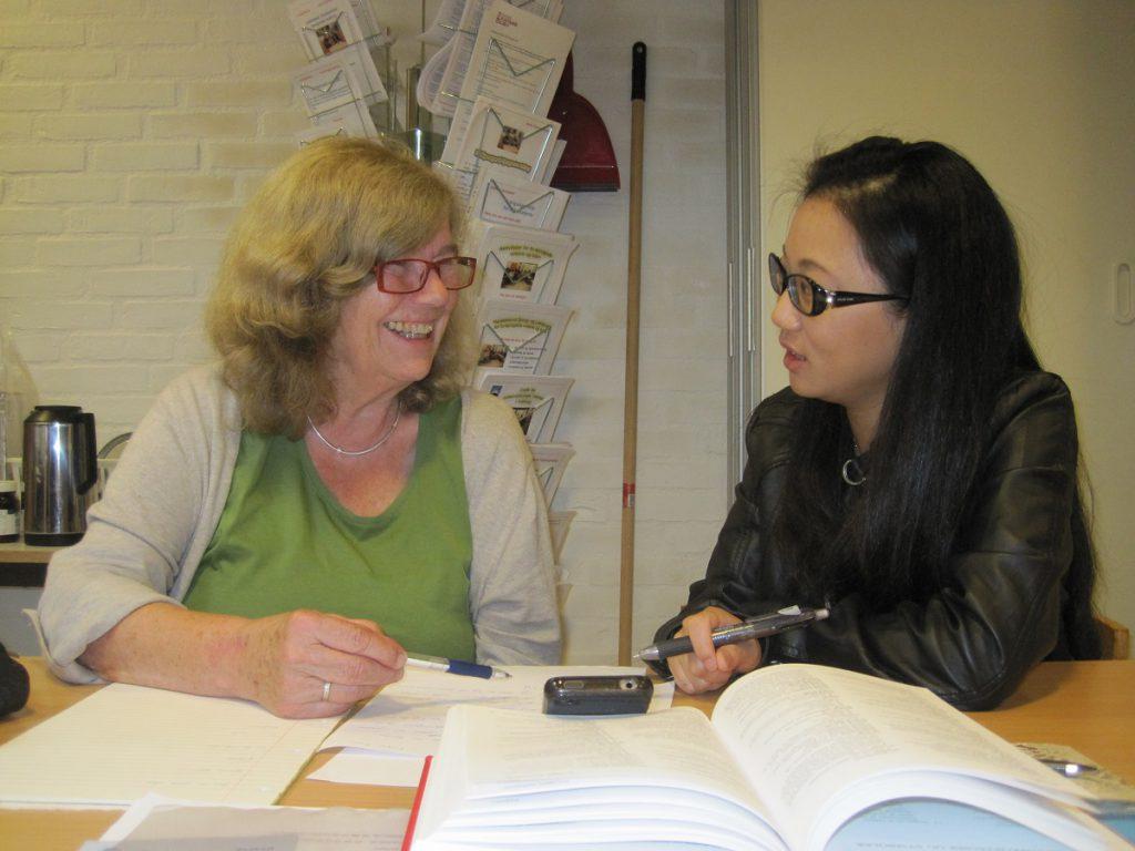 Ketty og en asiatisk kvinde
