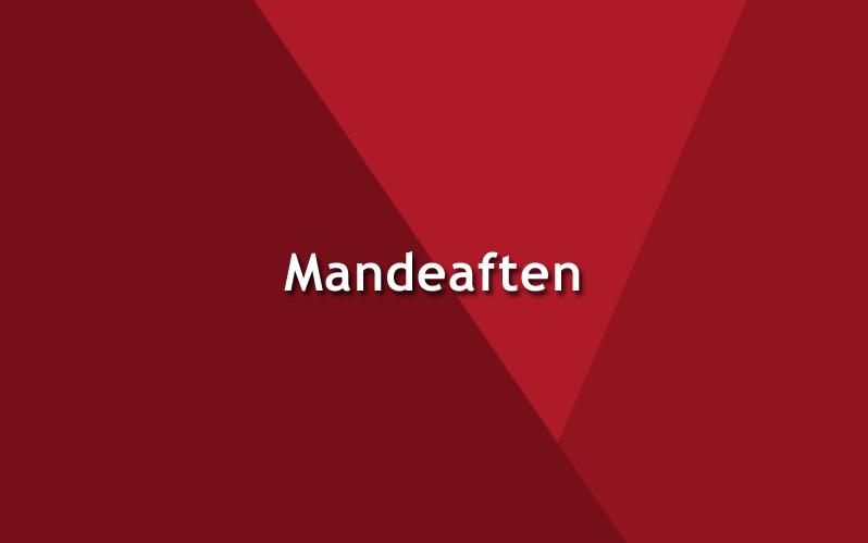 MANDEAFTEN